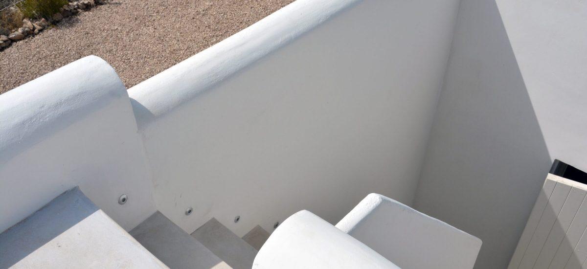 Vivienda en Formentera. Escalera exterior