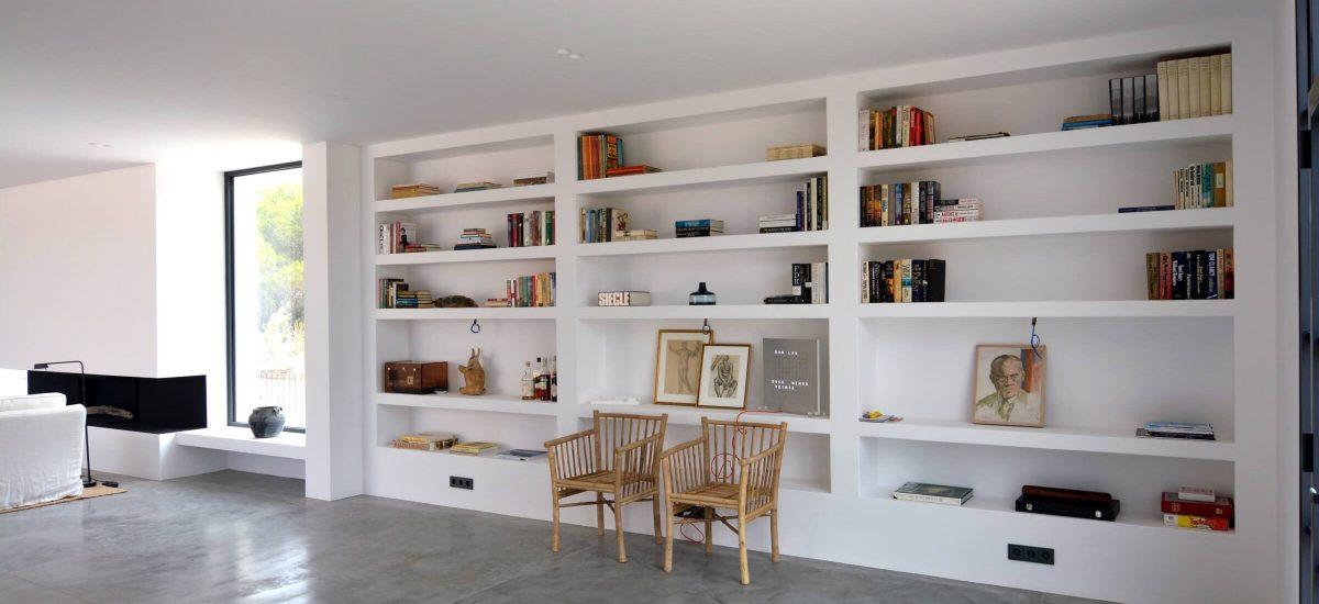 Vivienda en Formentera. Librería